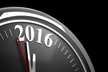 watch new year: Last Minutes to 2016 Stock Photo