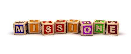 juguetes de madera: Missione Cubo texto