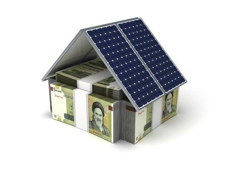 iranian: Iranian Rial Energy Saving Stock Photo
