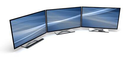 Three HD Display Stock Photo