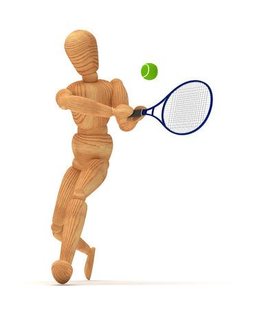 artists dummy: Tennis Player Stock Photo