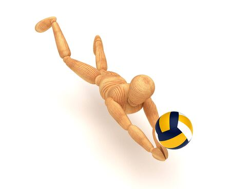 artists dummies: Volleyball Player Stock Photo