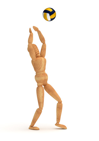 artists dummy: Volleyball Player Stock Photo