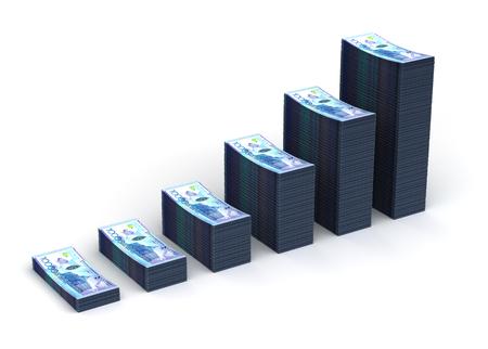 kazakh: Kazakh Tenge Graph Stock Photo
