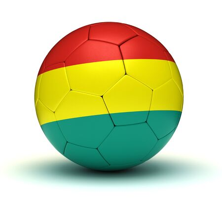 bolivian: Bolivian Football isolated with clipping path