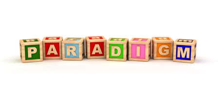 paradigm: Paradigm Play Cubes Stock Photo