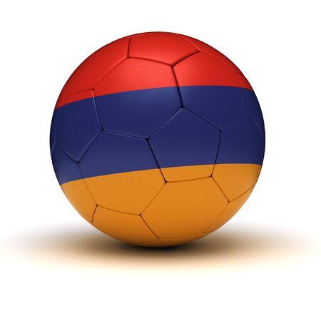 armenian: Armenian Football isolated with clipping path Stock Photo