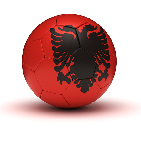 albanian: Albanian Football isolated with clipping path Stock Photo