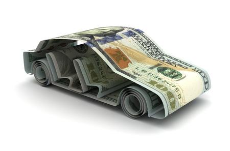 Dollar und Auto Standard-Bild - 47380851
