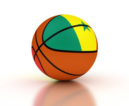 senegal: Senegal Basketball Team isolated with clipping path