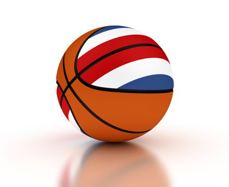 costa rican: Costa Rican Basketball Team isolated with clipping path Stock Photo