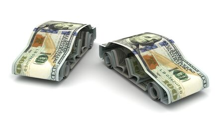 car bills: Dollar and Cars