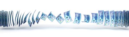 business concept: Kazakh Tenge Transfer isolated with clipping path