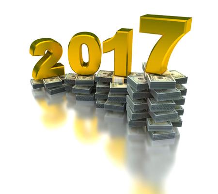 year increase: rowing Economy 2017 Stock Photo