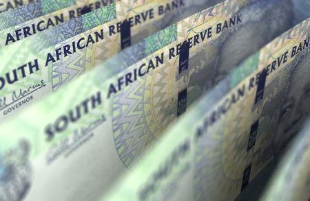 South African Rand Closeup Standard-Bild