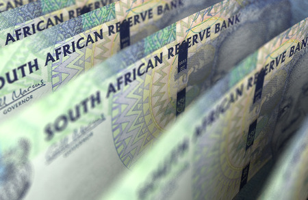 South African Rand Closeup Фото со стока