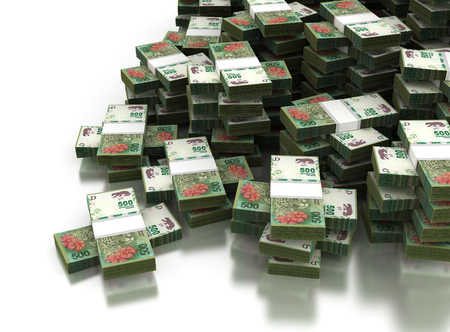 Stack of Argentina Pesos Stock Photo - 76661739