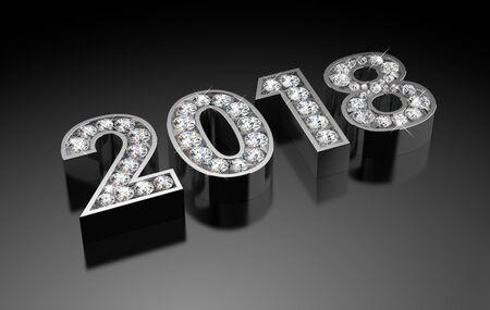 New Year Diamonds 2018 Stock Photo