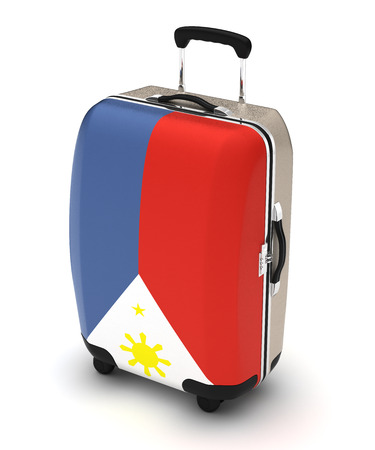 Travel to Philippines (isolated with clipping path)