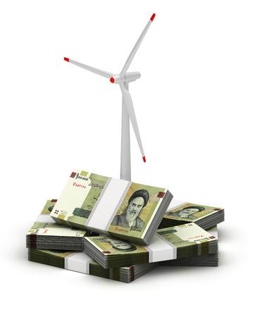 Energy Saving ( Iranian Rial) Stock Photo