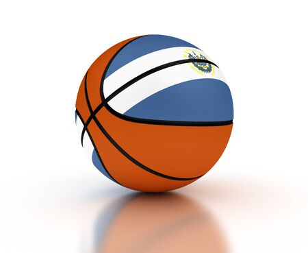 El Salvador Basketball Team (isolated with clipping path) Stock Photo