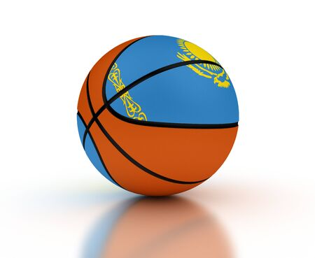 Kazakh Basketball Team (isolated with clipping path)