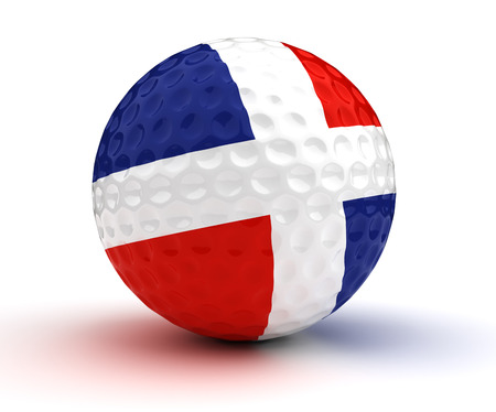 Dominican Republic Golf Ball (Isolated with clipping path)