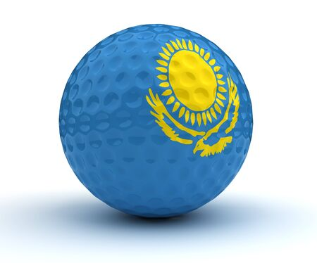 Kazakh Golf Ball (Isolated with clipping path)