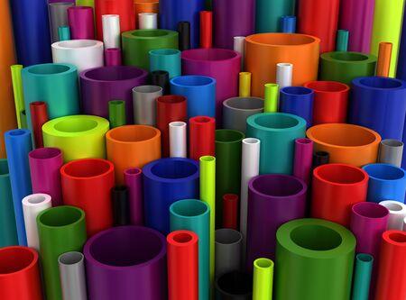 Colorful Industrial Plastic Pipes Reklamní fotografie
