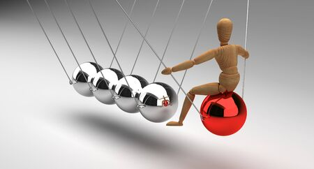 Newtons Cradle With People