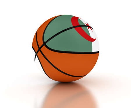 Algerian Basketball Team (isolated with clipping path)