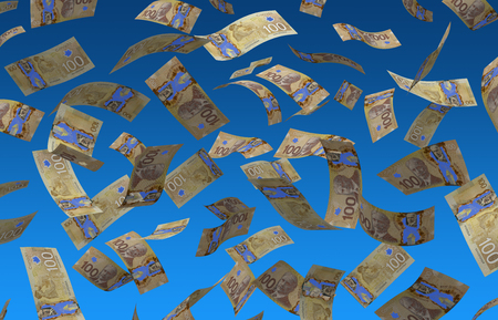 Flying Canadian Dollar Фото со стока