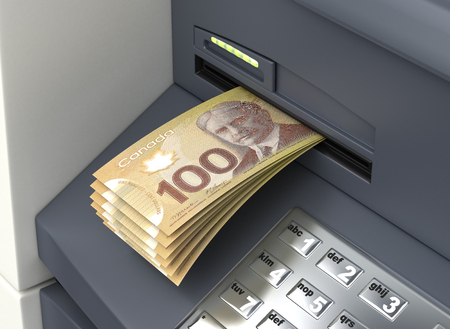 Withdrawal Canadian Dollar From The ATM