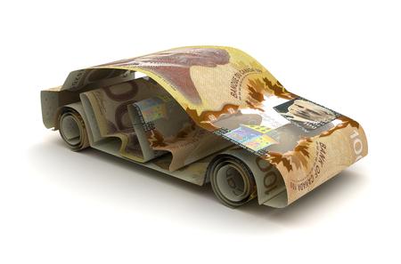 finance de voiture avec dollar canadien Banque d'images