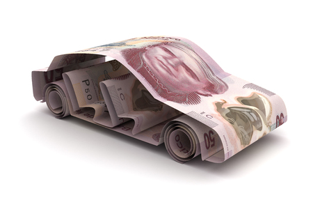 Car Finance With Mexican Pesos Stock Photo