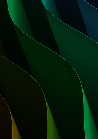 Blue Green Curved Background