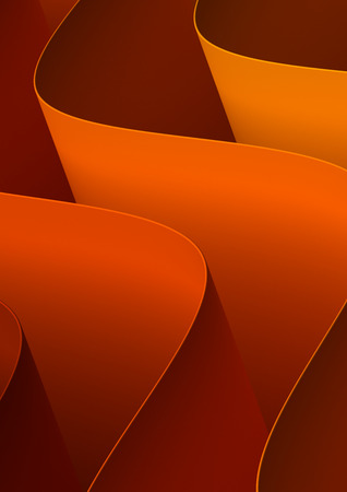 Orange Curved Background