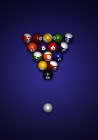 Billiard balls from top view