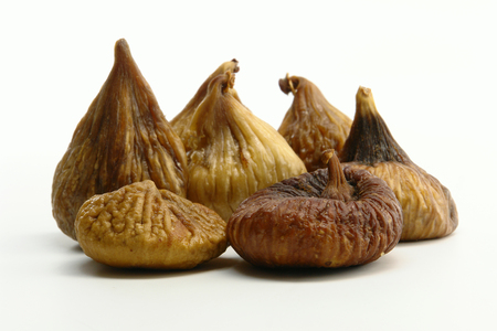 A Little Dried Figs (Isolated on white background) Archivio Fotografico