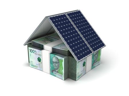Colombian Pesos Energy Saving (isolated on white background)