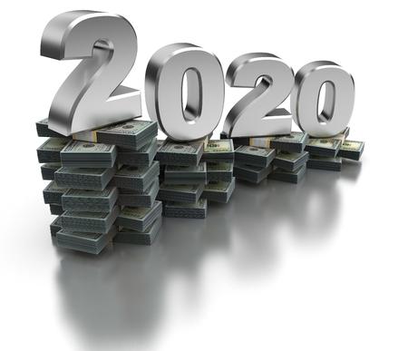 Bad United States Economy 2020 (isolated on white background) Imagens