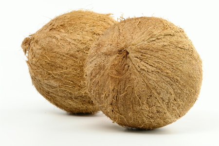Double Coconut isolated on white background 스톡 콘텐츠