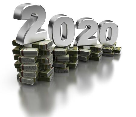 Bad Iran Economy 2020 (isolated on white background)