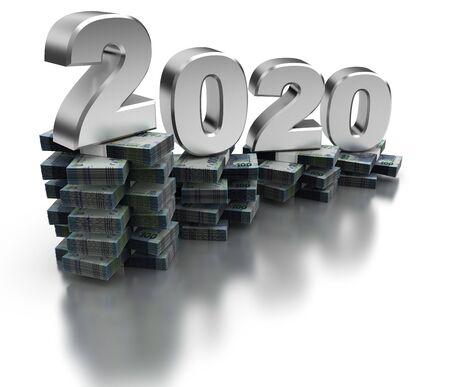 Bad South Africa Economy 2020 (isolated on white background) Imagens