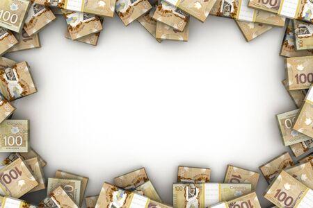 Cadre avec dollar canadien (isolé sur fond blanc)