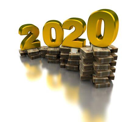 Growing Canadian Economy 2020 (isolated on white background) Stock fotó