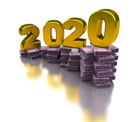 Growing Turkish Economy 2020 (isolated on white background)
