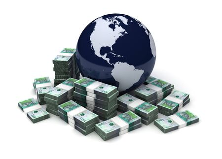 Global Business With Colombian Pesos (Isolated on white background)