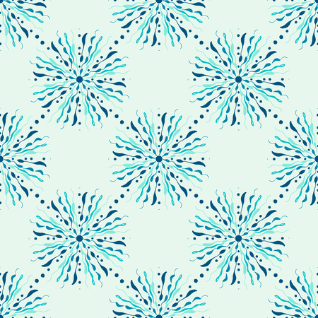 Simple floral seamless pattern background.