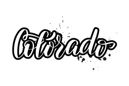 Vector calligraphy illustration isolated on white background Ilustração